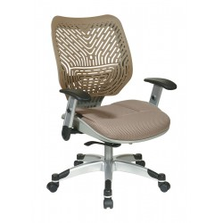 Office Star Products - 86-M88C625R - Raven Mesh Desk Chair 19 Back Height, Arm Style: Adjustable