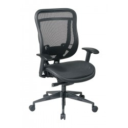 Office Star Products - 818-11G9C18P - Black Mesh Desk Chair 23 Back Height, Arm Style: Adjustable