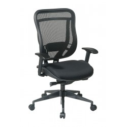 Office Star Products - 818-31G9C18P - Black Mesh Desk Chair 23 Back Height, Arm Style: Adjustable