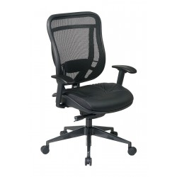 Office Star Products - 818-41G9C18P - Black Mesh Desk Chair 23 Back Height, Arm Style: Adjustable