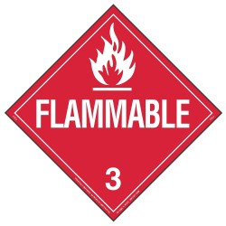 Labelmaster - 19TZ81 - 10-3/4 x 10-3/4 Class 3 Vinyl Placard, White/Red