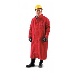 Ansell-Edmont - 66-663 - Chemical Resistant Coat, Red, XL