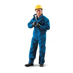 Ansell-Edmont - 66-677 - CPC Nomex Trilaminate, Collared Disposable Coveralls, Size: XL, Color Family: Blues