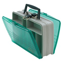Plano Molding - 112000 - Compartment Box, Beige/Green, 4-1/8H x 8-7/8L x 12-5/8W, 1EA