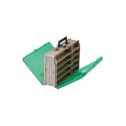 Plano Molding - 111906 - Compartment Box, Beige/Green, 4-1/4H x 10-1/8L x 13-1/2W, 1EA