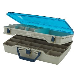 Plano Molding - 115503 - Compartment Box, Beige/Blue, 5H x 12L x 16-7/8W, 1EA