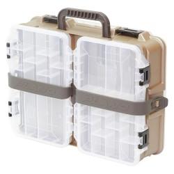 Plano Molding - 112300 - Compartment Box, Beige/Brown, 4-7/8H x 11-7/8L x 15-3/8W, 1EA