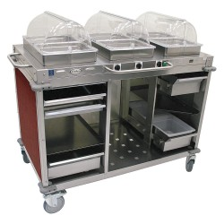 Cadco - CBC-HHH-L5 - Buffet Cart, Hot, Cherry, Stainless Steel