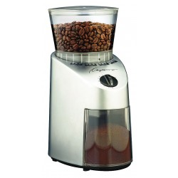 Capresso - 560.04 - Coffee Grinder, Single, 0.55 lb., Silver, Plastic/Stainless Steel