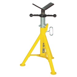 "Sumner - 780385 - V-Head Pipe Stand, 1/8 to 24"" Pipe Capacity, 21"" to 36"" Overall Height, 2500 lb. Load Capacity"