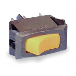 Carling - RA911-RB-B-O-N - Rocker Switch, Contact Form: SPST, Number of Connections: 2, Terminals: 0.250 Quick Connect Tab