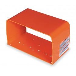 Linemaster - 522-D28 - Orange Formed Steel Foot Switch Guard, 6 Length, 11 Width, 6-1/4 Depth