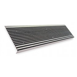 Wooster - 500BLA3 - Black, Extruded Aluminum Stair Tread Cover, Installation Method: Fasteners, Beveled Edge Type, 36 W