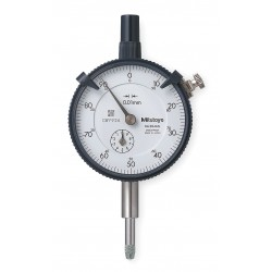 Mitutoyo - 2046S - Continuous Reading Dial Indicator, AGD 2, 57mm Dial Size, 0 to 10mm Range