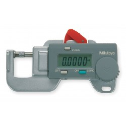 Mitutoyo - 700-118-20CERT - Digital Thickness Gage, Flat, 0-0.5000 In