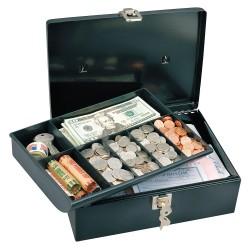 Master Lock - 7111D - Cash Box, Black, 9-1/2x11-13/16x3-9/16