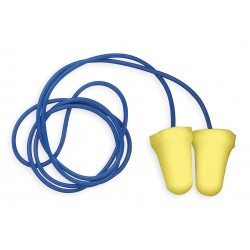 3M - 312-1222 - 28dB Disposable Bell-Shape Ear Plugs; Corded, Yellow, S