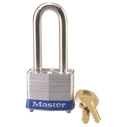 Master Lock - 3LHBLU - Padlock Keyed Different Coated Steel Blue 2 In. L 9/32 In Diameter Master Lock Co., Ea