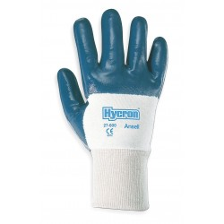 Ansell-Edmont - 27-600 - Smooth Nitrile Coated Gloves, Glove Size: L, Blue/White