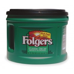 Folgers - 2550000374 - Decaffeinated Coffee, 1.41 lb.