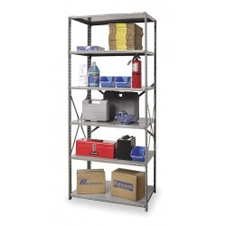 Hallowell - 4511-24HG - 36 x 24 x 87 Starter Steel Shelving Unit, Gray