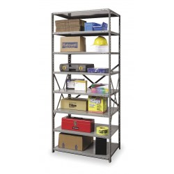 Hallowell - 4513-24HG - 36 x 24 x 87 Starter Steel Shelving Unit, Gray