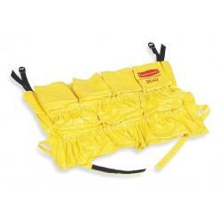 Rubbermaid - FG264200YEL - Yellow Vinyl Receptacle Caddy Bag, 1 EA