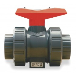 GF Piping Systems - 167546325 - Polypropylene FNPT x FNPT Ball Valve, Tee, 1-1/4 Pipe Size