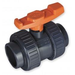GF Piping Systems - 161375010 - PVC Socket x Socket Ball Valve, Tee, 4 Pipe Size