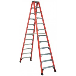 Louisville Ladder - FM1412HD - 12 ft. 375 lb. Load Capacity Fiberglass Twin Stepladder