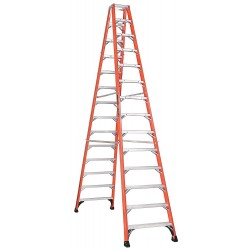 Louisville Ladder - FM1414HD - 14 ft. 375 lb. Load Capacity Fiberglass Twin Stepladder