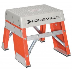 "Louisville Ladder - FY8001 - Fiberglass Step Stand, 12"" Overall Height, 300 lb. Load Capacity, Number of Steps 1"
