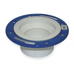 Mueller Industries - 05227 - PVC Closet Flange, Adjustable, Metal Ring, Hub, 4 x 3 Pipe Size - Pipe Fitting