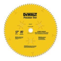 "Dewalt - DW3232PT - Dewalt 80 Teeth Fine Crosscutting Saw Blade - 12"" Diameter - Carbon Steel"