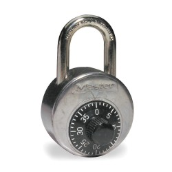Master Lock - 2010 - Combination Padlock, Resettable Center-Dial Location, 1 Shackle Height