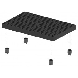 Add-a-Level - A3624AG - Work Platform Add On Unit, Plastic, Stackable Platform Style, 2-5/8 Platform Height
