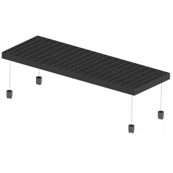 Add-a-Level - A6624AG - Work Platform Add On Unit, Plastic, Stackable Platform Style, 2-5/8 Platform Height