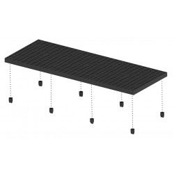 Add-a-Level - A9636AG - Work Platform Add On Unit, Plastic, Stackable Platform Style, 2-5/8 Platform Height