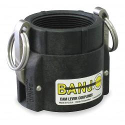 Banjo - 100D - Polypropylene Coupler, Coupling Type D, Female Coupler x FNPT Connection Type