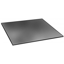 E. James & Co - 1030-1/2HGB - Neoprene Rubber Sheet, 12W x 2 ft.L x 1/2Thick, 30A, Plain Backing Type, 450% Elongation, Black