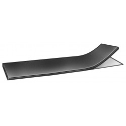 E. James & Co - 1030-1HGYTAPE - Neoprene Rubber Strip, 4W x 3 ft.L x 1Thick, 30A, Adhesive Backing Type, 450% Elongation, Black