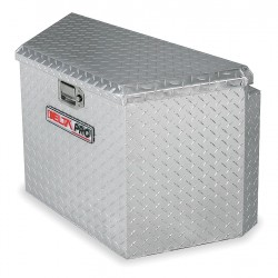 Jobox - 415000D - Aluminum Trailer Tongue Box, Silver, Single, 4.5 cu. ft.