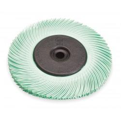 Scotch-Brite - 33217 - 6 Radial Bristle Brush, Curved Bristles, 7/16 Face Width, 1 Micron Grit, Ceramic
