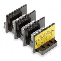 Cooper Bussmann - 16005-3 - Eaton/Bussmann Series 16005-3 Splicer Terminal Block, 3-Pole, Single Primary - Single Secondary