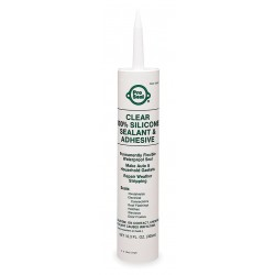 Ductmate Industries - 80067 - Waterproof Clear RTV Silicone Sealant, 11.1 oz.
