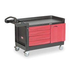 Rubbermaid - FG454888BLA - 58-5/8 x 26-3/8 x 33-1/4 Black Trade Cart/Service Bench, 750 lb. Load Capacity