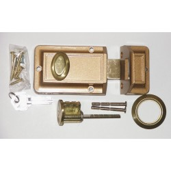 Kaba Ilco - 545-53-51 - Bronze Auxiliary Lock , Jimmyproof Deadlock, For Door Thickness 1-3/8 to 2-1/4