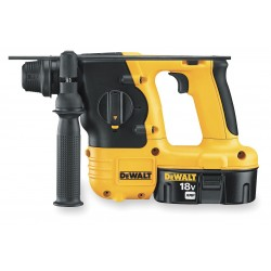 Dewalt - DC212KA - DeWALT 18 V 2.4 Ah Ni-Cad 1100 RPM Cordless SDS Hammer Drill Kit With 7/8' Chuck (Includes 1 Hour Charger, (2) 18 Volt XRP Batteries, 360 Side Handle, Depth Rod And Kit Box), ( Each )