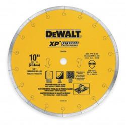 Dewalt - DW4764 - 10 Wet Diamond Saw Blade, Continuous Rim Type, Application: Masonry