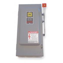 Square D - HU361 - Safety Switch, 1 NEMA Enclosure Type, 30 Amps AC, 15 HP @ 600VAC HP